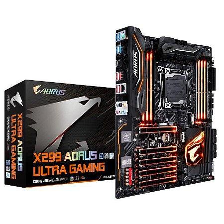 GIGABYTE AORUS X299 AORUS Ultra Gaming LGA 2066 Intel X299 SATA 6Gb/s USB 3.1 ATX Intel