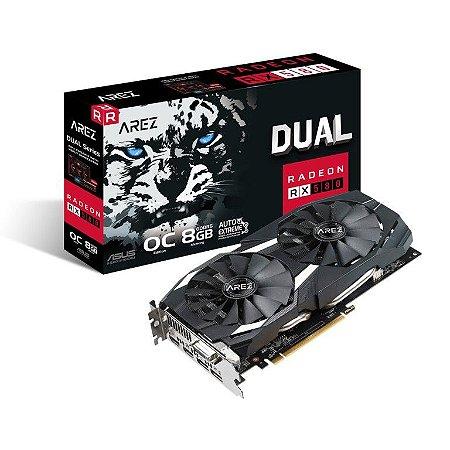 ASUS Radeon AREZ RX 580 DirectX 12 8GB 256-Bit GDDR5 HDCP Ready CrossFireX (AREZ-DUAL-RX580-O8G)