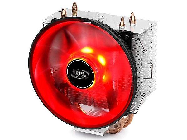 Cooler Deepcool Gammaxx 300R Led Vermelho 12cm (DP-MCH3-GMX300RD)