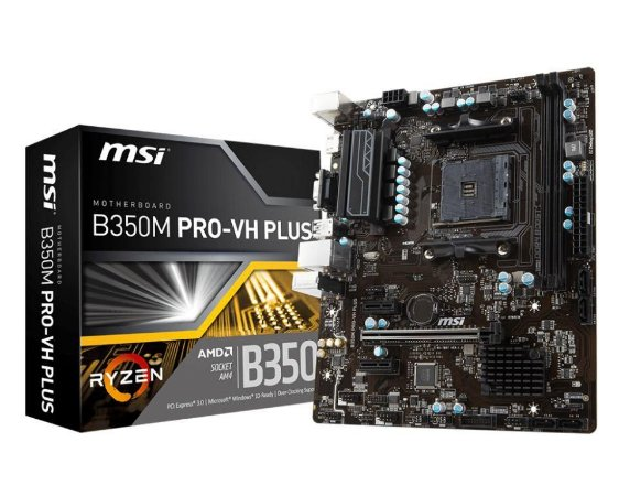 MSI B350M PRO-VH Plus AM4 AMD B350 SATA 6Gb/s USB 3.1 HDMI Micro ATX AMD
