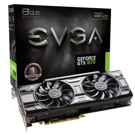 EVGA GeForce GTX 1070 GAMING ACX 3.0 Black Edition 8GB GDDR5 Black Edition (08G-P4-5171-KR)