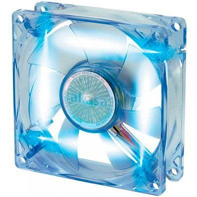 Fan Akasa 8cm com LED Azul (AK-170CB-4BLS)