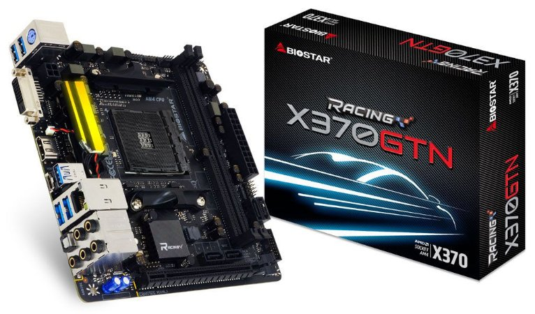 BIOSTAR X370GTN AM4 AMD X370 SATA 6Gb/s USB 3.1 HDMI Mini ITX AMD