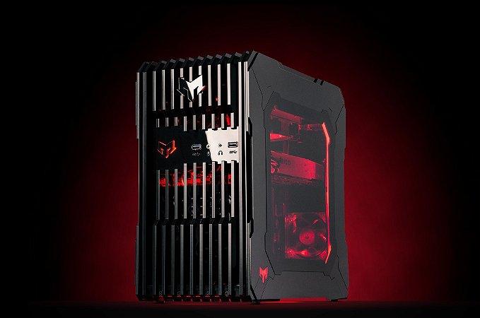 Myth Gamer ZEDD Intel 8º Geração i7 8700K 3.7 GHZ / 16gig DDR4 2400Mhz / SSD 240Gig / Gforce GTX 1080Ti 11Gig / Fonte 600W 80 Plus bronze / Gab ZEDD Acrílico