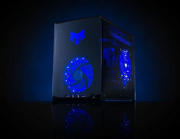 Myth Gamer BLACKBIRD AMD Ryzen 7 2700X 3.7 GHZ/ 8gig DDR4 2400Mhz / SSD 120Gig / Radeon RX 580 8Gig / Fonte 500W 80 Plus bronze / Gab BLACKBIRD Acrílico