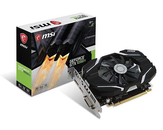 MSI GeForce GTX 1050 TI 4G OC 4GB GDDR5 128Bits DVI/HDMI/DP PCIE 3.0 (912-V809-2691)