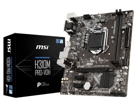MSI H310M PRO-VDH LGA 1151 (300 Series) Intel H310 HDMI SATA 6Gb/s Micro ATX Intel Motherboard