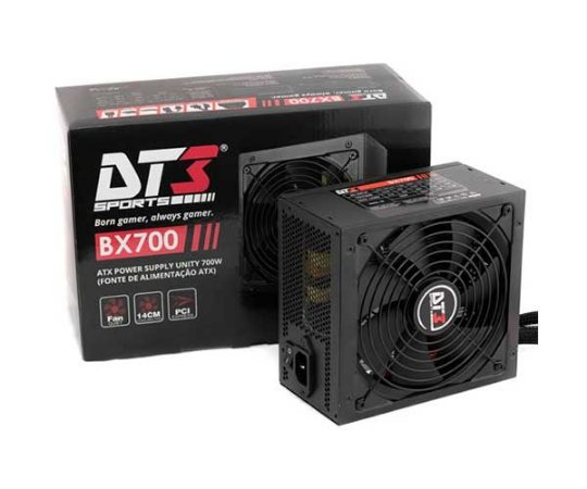 Fonte DT3 SPORTS BX700 700W 80 PLUS BRONZE PFC ATIVO Semi Modular (10721-1)