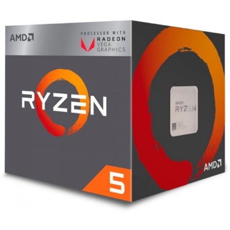 AMD Ryzen 5 2400G Quad-Core 3.6 GHz (3.9 GHz Turbo) Socket AM4 65W (YD2400C5FBBOX)