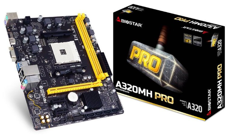 BIOSTAR A320MH PRO AM4 SATA 6Gb/s USB 3.1 HDMI Micro ATX AMD