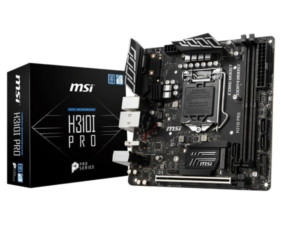 MSI H310I PRO LGA 1151 (300 Series) Intel H310 SATA 6Gb/s Mini ITX Intel