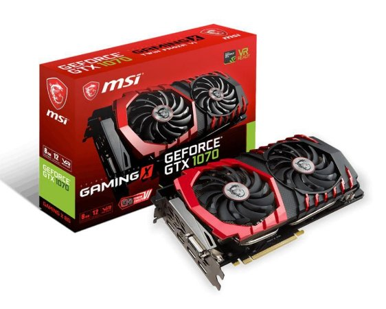 MSI GeForce GTX 1070 GAMING X 8G 8GB 256-Bit GDDR5 PCI Express 3.0 x16 HDCP Ready SLI (912-V330-257)