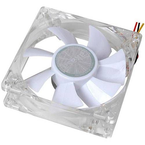 Fan Akasa 8cm Ultra Quiet c/ LED Branco (AK-FN054)