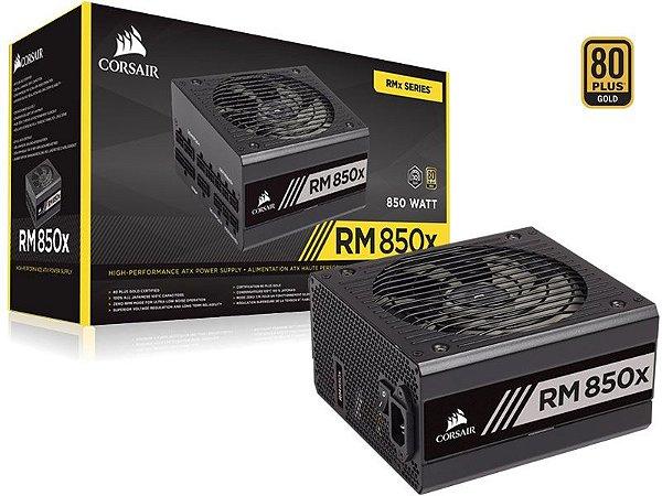 Fonte Corsair RM850x RMx Series 850W 80 PLUS GOLD Certified Full Modular (CP-9020180-WW)