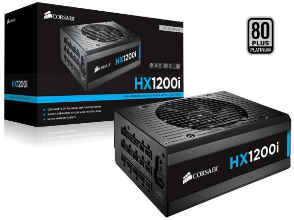 Fonte Corsair HXi Series HX1200i 1200W 80 PLUS PLATINUM Full Modular c/ C-Link Monitoring and Control (CP-9020070-WW)