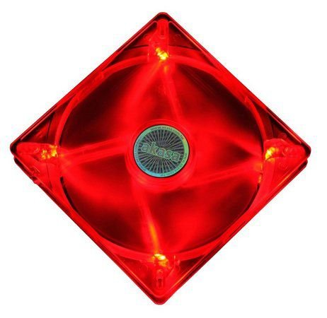 Fan Akasa 120MM 4 LEDs Vermelho (AK-174CR-4RDS)