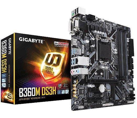 Gigabyte B360M DS3H LGA 1151 (300 Series) Intel B360 HDMI SATA 6Gb/s USB 3.1 Micro ATX