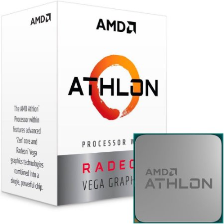 AMD Athlon 200GE 2-Core, 4-Thread, 3.2 GHz Base, Socket AM4 35W (YD200GC6FBBOX)