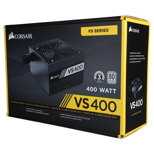 Corsair VS Series VS400 400W ATX12V / EPS12V 80 PLUS Certified Active PFC (CP-9020117-LA)