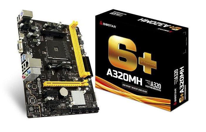 BIOSTAR A320MH AM4 SATA 6Gb/s USB 3.1 HDMI Micro ATX AMD