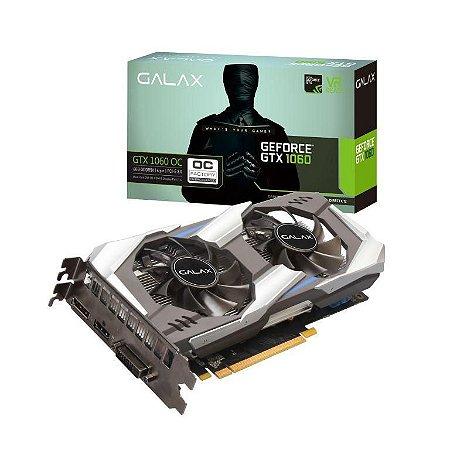 Galax GEFORCE GTX 1060 OC 6GB GDDR5X 192Bits 8008MHZ DX12 (60NRJ7DSV8OC)