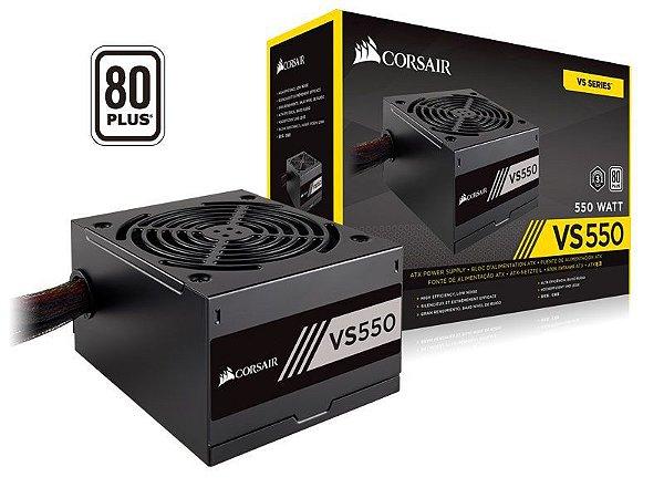 Corsair VS Series VS550 550W ATX12V / EPS12V 80 PLUS Certified Active PFC (CP-9020171-WW)
