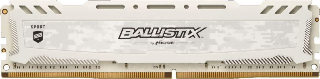 Crucial Ballistix Sport LT White 8GB 288-Pin DDR4 32000MHz (PC4 25600) (BLS8G4D32AESCK)
