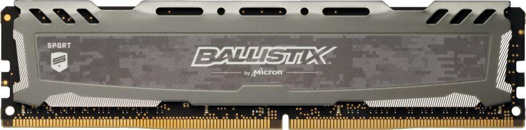Crucial Ballistix Sport LT Gray 8GB 288-Pin DDR4 3200MHz (PC4 25600) (BLS8G4D32AESBK)