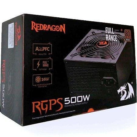Fonte Redragon RGPS 500W 80 PLUS BRONZE PFC Ativo (RGPS500W)