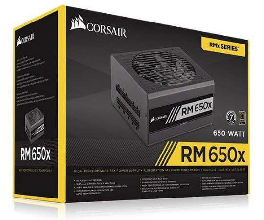 Corsair 650W 80 Plus Gold Modular RM650X (CP-9020091-WW)