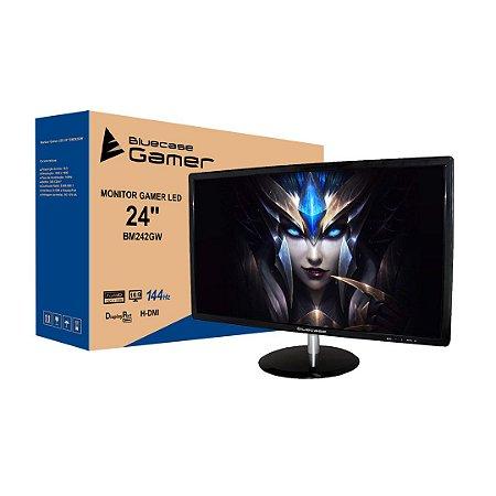 "Monitor Gamer Bluecase LED 24"" Widescreen Full HD HDMI/Display Port FreeSync 144HZ 1MS (BM242GW)"
