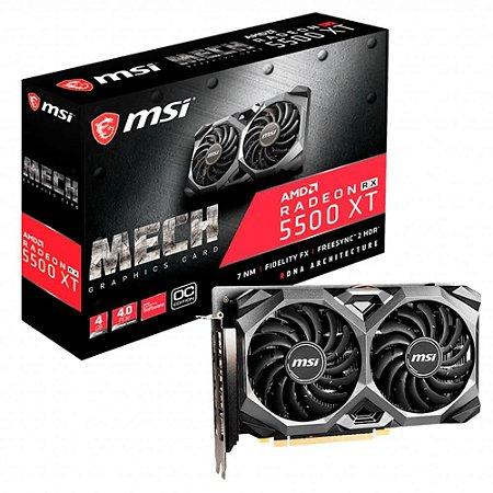 MSI AMD Radeon RX 5500 XT Mech 4G OC GDDR6 128 bits (912-V382-013)