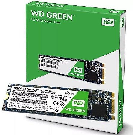 SSD WD Green M.2 2280 120GB SATA III 6Gb/s (WDS120G2G0B)