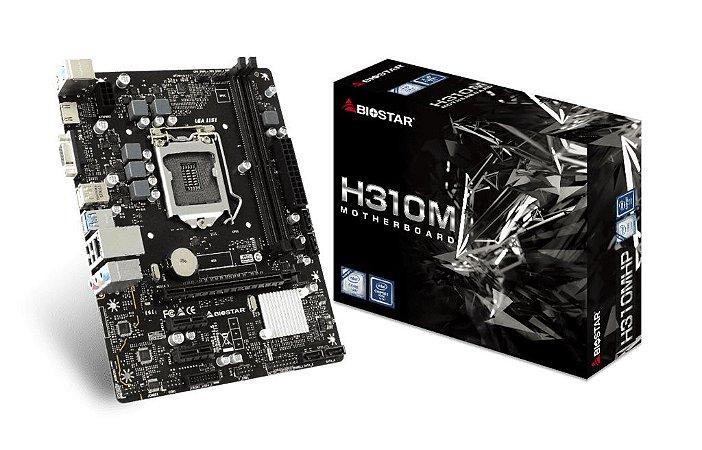 Biostar H310MHP LGA 1151 (300 series) Intel H310, DDR4 HDMI SATA 6Gb/s USB 3.1 Micro ATX