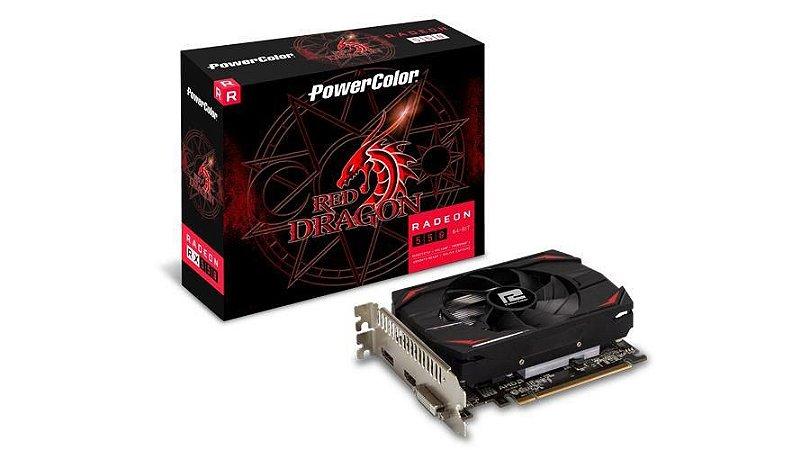 PowerColor Radeon RX 550 2GB GDDR5 PCI Express 3.0 DirectX 12 (AXRX 550 2GB64BD5-DH)
