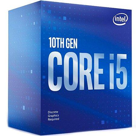 Intel Core i5-10400F 2.9GHz (4.30GHz Turbo) 10ª Geração, 6-Cores 12-Threads Cache 12MB LGA 1200 (BX8070110400F)