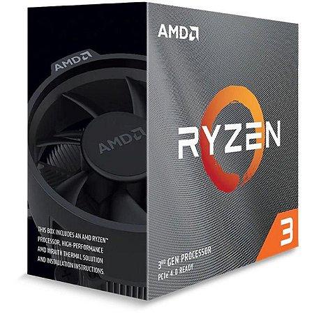 AMD Ryzen 3 3100 3.6GHz (3.9GHz Turbo), 4-Cores 8-Threads, Cooler Wraith Stealth, AM4 (100- 100000284BOX)