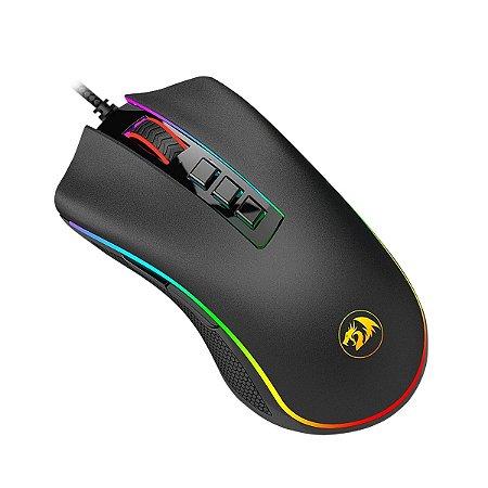 Mouse Redragon Chroma Cobra, 10000DPI, 7 Botões Programáveis, Black (M711)