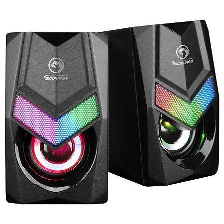 Caixa de Som Gamer Marvo SG-118, RGB, 2x3W, USB (SG-118)