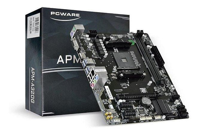 PcWare APM-A320G AM4 AMD A320 DDR4 SATA 6Gb/s USB 3.1 HDMI Micro ATX