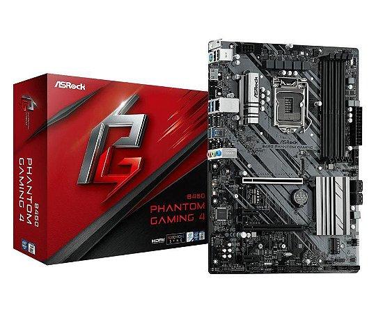 ASRock B460 Phantom Gaming 4 Intel LGA 1200 DDR4 ATX (90-MXBCP0-A0UAYZ)