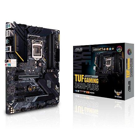 Asus TUF Gaming Z490-Plus Intel LGA 1200 10ª Geração DDR4 ATX