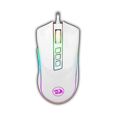 Mouse Redragon Chroma Cobra Lunas White, 10000DPI, 7 Botões Programáveis (M711W)