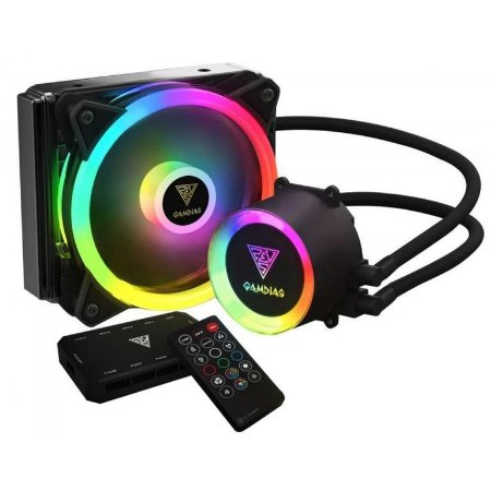 Water Cooler Gamdias Chione E2-120R C/ Controlador RGB 120mm, Intel-AMD