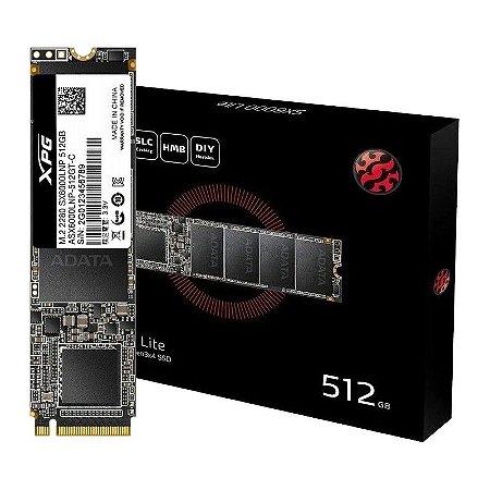 SSD M.2 NVMe XPG SX6000 Lite, 512GB, Leituras: 1800Mb/s e Gravações: 1200Mb/s (ASX6000LNP-512GT-C)