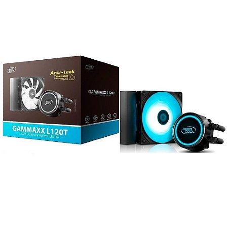 Water Cooler Deepcool Gammaxx L120T 120mm LED Azul Anti-Leak (DP-H12RF-GL120TB)