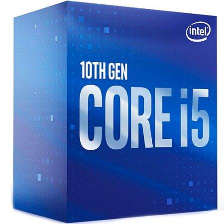 Intel Core i5-10400, Cache 12MB, 2.9GHz (4.3GHz Max Turbo), 10ª Geração 6-Cores 12-Threads Cache 12MB LGA 1200 (BX8070110400)