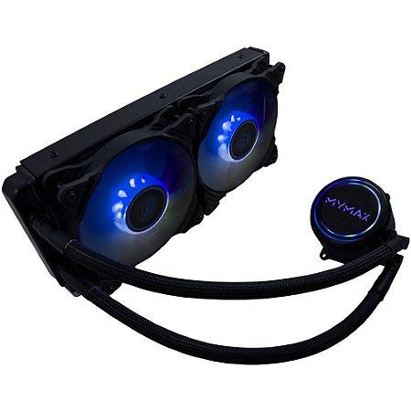 Watercooler MYMAX New ALGOR 240MM AMD e Intel LED Azul (MYC/FC-V3-240-BL)