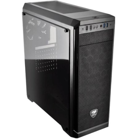 Gabinete Cougar MX330-G, Mid Tower, 1 Cooler, Lateral em Vidro (385NC10-0006)