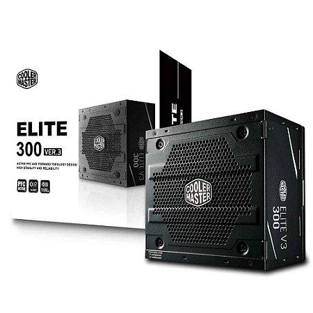 Fonte Cooler Master 300W Elite V3 PFC Ativo (MPW-3001-ACAAN1-WO)